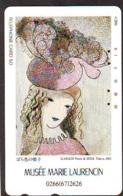 Télécarte JAPON * PEINTURE FRANCE (2146) MARIE LAURENCIN * DALMAS * MUSEUM * ART * TK Gemälde  Phonecard Japan * KUNST - Painting