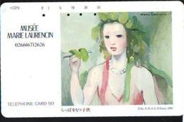 Télécarte JAPON * PEINTURE FRANCE (2148) MARIE LAURENCIN * DALMAS * MUSEUM * ART * TK Gemälde  Phonecard Japan * KUNST - Schilderijen