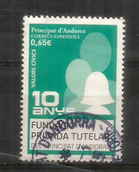 Valeurs Civiques : La Charte Des Valeurs 2018, Un Timbre Oblitéré,  1 ère Qualité - Used Stamps