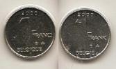 1 Frank 2000  Frans+vlaams * Uit Muntenset * FDC - 02. 1 Franc