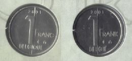 1 Frank 2001 Frans+vlaams * Uit Muntenset * FDC - 02. 1 Franc