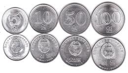 Korea North - Set 4 Coins 5 10 50 100 Won 2005 AUNC Lemberg-Zp - Korea (Nord-)