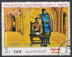 Yemen 1971 YAR Mi. 1316 Wagner Maestri Cantori Norinberga Opera Musica Lirica CTO Olimpiadi Monaco 1972 - Musica