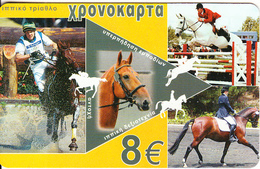 GREECE - Sports/Equestrian, Amimex Prepaid Card 8 Euro, CN : AB+6 Digits, Tirage %5000, Mint - Sport