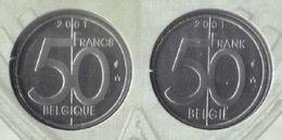 50 Frank 2001 Frans+vlaams * Uit Muntenset * FDC - 05. 50 Francs