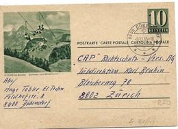 "207 - 60 - Entier Postal Avec Illustration ""Stoos Ob Schwyz"" Superbe Cachet à Date Dübendorf 1965 - Stamped Stationery"