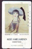 Télécarte JAPON * PEINTURE FRANCE (2154) MUSEE MARIE LAURENCIN * DALMAS * ART * TK Gemälde  Phonecard Japan * KUNST - Painting