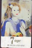 Télécarte JAPON * PEINTURE FRANCE (2159)  MARIE LAURENCIN * DALMAS * ART * TK Gemälde  Phonecard Japan * KUNST - Painting