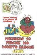 ITALIA - 1985 FORLI' 25° Anniv. Fondazione Centro Trasfusionale Donatori Sangue AVIS Su Cartolina Speciale - Salute