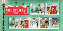 GREAT BRITAIN 2014 Christmas M/S - Blocks & Kleinbögen