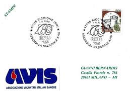 ITALIA - 1996 RICCIONE (RN) 60° Assemblea Nazionale Donatori Sangue AVIS - Salute