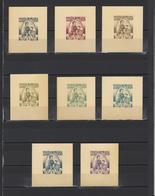 ++ 1939 King Karl 1 2 Nominal In Different Colour Thick Paper Colour Proof - Essais, épreuves & Réimpressions