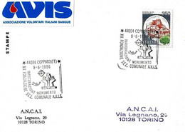ITALIA - 1986 COPPARO (FE) 20° Fondazione Donatori Sangue AVIS E Inaugurazione Monumento - Salute