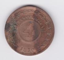 Très Belle 4 Centésimos Paraguay  1870   SUP - Paraguay
