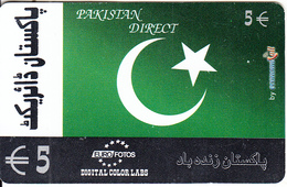 GREECE - Pakistan Direct, Euro Fotos Prepaid Card 5 Euro(807 1000-807 3333, Thin Plastic), Used - Greece