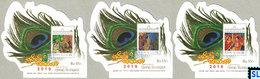 Sri Lanka Stamps 2019, Ruhunu Maha Kataragama Esala Festival, Elephants, Peacocks, Birds, Odd Shape, MSs - Sri Lanka (Ceylon) (1948-...)