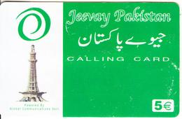 GREECE - Jeevay Pakistan, Global Com Prepaid Card 5 Euro(807 1771), Used - Greece