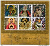 GREAT BRITAIN 2005 Christmas. Madonna And Child Paintings M/S - Blocchi & Foglietti