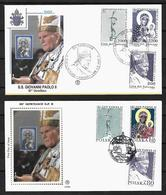 2000 Joint/Congiunta Poland And Vatican City, BOTH FDC'S WITH 3 STAMPS: Pope John Paul 80 Years - Emissioni Congiunte