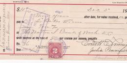 1914- RECIBO HIPOTECA FISCAL LAW REPORTER BLANC UNITED STATES INTERNATIONAL REVENUE - BLEUP - Autres