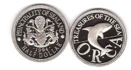 Sealand - Half Dollar 1994 UNC Lemberg-Zp - Münzen