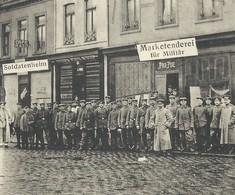 """+++ CPA - LENS - Armée - Soldat - Militaire - """" Marketenderei Für Militare """" - Guerre - Cachet Feldpost 1915  // - Lens"""