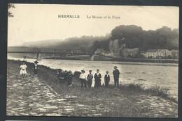 +++ CPA - Oupeye - HERMALLE - La Meuse Et Le Pont - Carte Animée  // - Oupeye