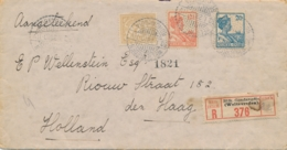 Nederlands Indië - 1928 - 3 Zegels Op R-cover Van LB WELTEVREDEN-GONDANGDIA Naar Den Haag / Nederland - Nederlands-Indië