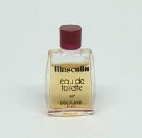 """Miniature De Parfum - BOURJOIS """"Masculin"""" Edt - Bouchon Rouge - 4,5ml - Modern Miniatures (from 1961)"""