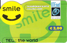 GREECE - Otenet Prepaid Card 3 Euro(golden CN), Exp.date 31/12/04, Used - Greece