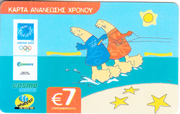 GREECE - Athens 2004 Olympics/Mascot 9, Cosmote Prepaid Card 7 Euro, Exp.date 05/08/06, Used - Greece
