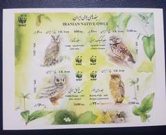 O) 2011 IRAN, PERSIA, MIDDLE EAST, PROOF, WWF - NATIVE OWL - LONG ASIO OTUS - SPOTTED ATHENE BRAMA - PALLID SCOPS OTUS B - Iran