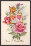 96523/ SAINT-VALENTIN, Roses, Muguets, Coeurs, Illustrateur Baro - San Valentino