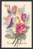 96524/ SAINT-VALENTIN, Roses, Coeur, Couple D'oiseaux, Illustrateur Baro - Valentijnsdag