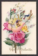 96525/ SAINT-VALENTIN, Roses, Coeur, Couple D'oiseaux, Illustrateur Baro - San Valentino