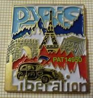 LIBERATION DE PARIS 25 AOUT 1944 CITROEN TRACTION FFI  TOUR EIFFEL ARC DE TRIOMPHE - Army