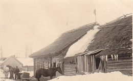 Foto Deutsche Soldaten Mit Pferden Und Schlitten - Osteuropa - Winter - 2. WK - 9*6cm (42403) - Krieg, Militär