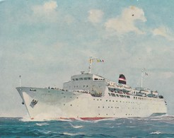 """Cpsm 10X15 . PAQUEBOT Car-Ferry Cie NAVIGATION MIXTE .L'  """" AVENIR   """" Illust. R.Chapelet - Paquebots"""