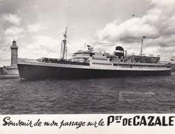 """Cpsm 10X15 . PAQUEBOT  Cie De NAVIGATION MIXTE .Le  """" PRESIDENT DE CAZALET   """" - Paquebots"""