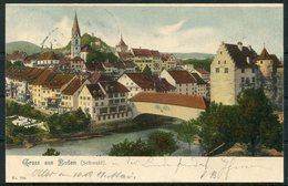 1902 Switzerland Gruss Aus Baden Litho Postcard - Uznach, St Gallen - Storia Postale