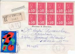 Port D'envaux 17 Charente Maritime Tarif Recommndé 1975 7f  Bloc 10 Marianne Becquet 0.50 YT 1664 Arphila Miro YT 1811 - Posttarieven