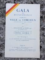 Programme Année 1950 Gala De Bienfaisance Au Profit De CORCIEUX 88  Ville Martyre Par Le Maire Jean De Fez PARIS 8e - Programas