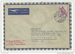 CHS14512 Switzerland 1947 Bern / Airmail Cover Franking Definitive 70c Fighting Soldier / Addressed Indiana USA - Switzerland