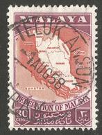 MALAYSIA. 30c USED. TELUK ANSON POSTMARK. - Federated Malay States