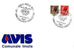 ITALIA - 1975 IMOLA (BO) 30° Anniv. Fondazione Donatori Sangue AVIS - Salute