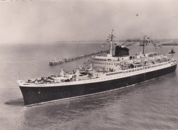 """Cpsm 10X15 . PAQUEBOT  Cie Gale Transatlantique .Le """" FLANDRE  """" Ligne Le Havre-Southampton-New York - Paquebots"""