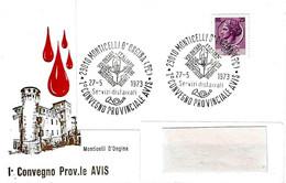 ITALIA - 1973 MONTICELLI D'ONGINA (PC) 1° Convegno Provinciale Donatori Sangue AVIS - Altri