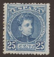 SPAIN. 1900. 25c BLUE. MOUNTED MINT. - 1889-1931 Kingdom: Alphonse XIII