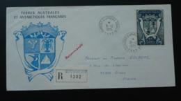 Lettre Recommandée Registered Cover PA21 Pingouin Penguin Terre Adélie TAAF 1975 - Covers & Documents