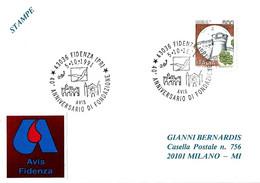 ITALIA - 1991 FIDENZA (PR) 40° Anniv. Fondazione Donatori Sangue AVIS, Palazzo Comunale E Cattedrale - Salute